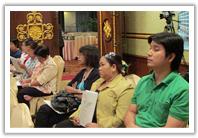 ผู้เข้าร่วมสัมมนาฟังอย่างตั้งใจ